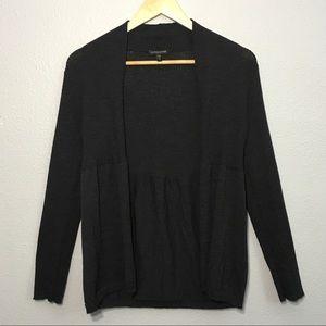 Eileen Fisher Wool Ribbed Modern Cardigan SP